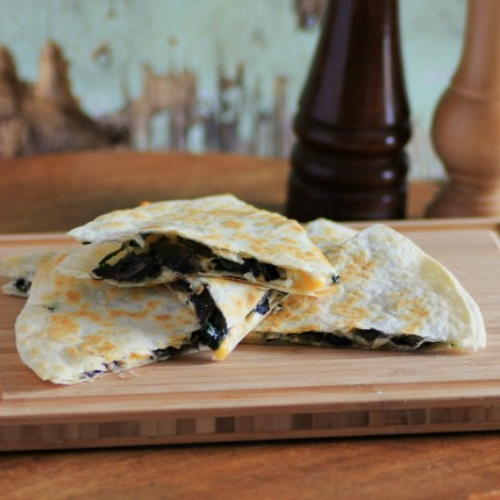 Quesadillas with Portabella Mushrooms and Spinach