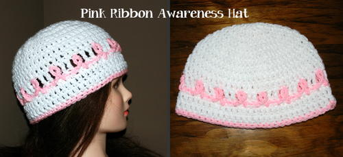Pink Ribbon Cancer Awareness Hat