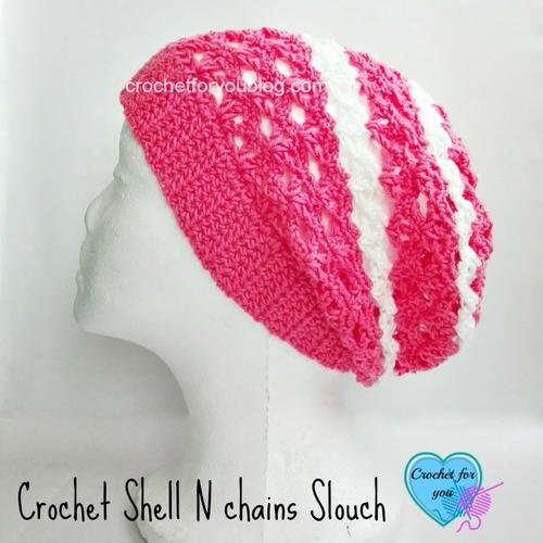 Crochet Shell N Chains Slouch