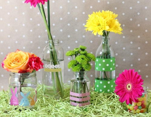 Recycled Glass Spring Vases