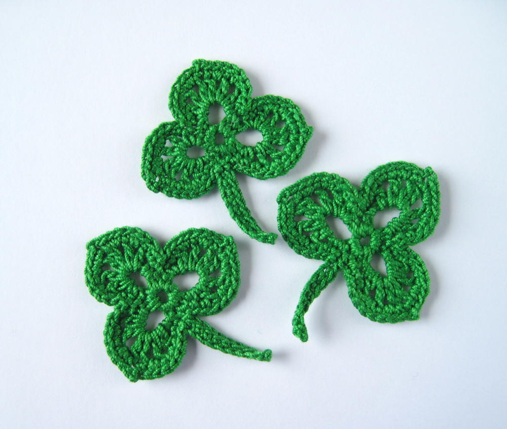 Crochet Shamrock Applique Allfreecrochet Com