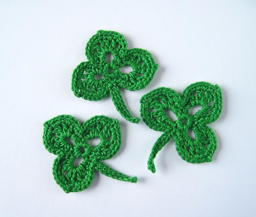Crochet Shamrock Applique