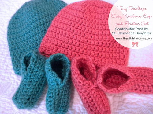Free Crochet Pattern For Baby Scratch Mittens : Flower-top Hat, Booties and Scratch Mittens ...