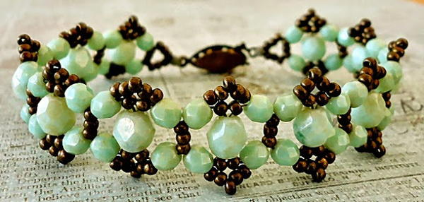 Coastal Crystal Seafoam Beaded Bracelet