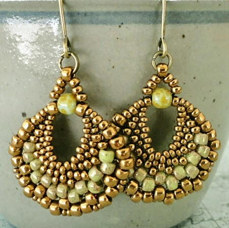 Peyote Stitch Beaded Earrings