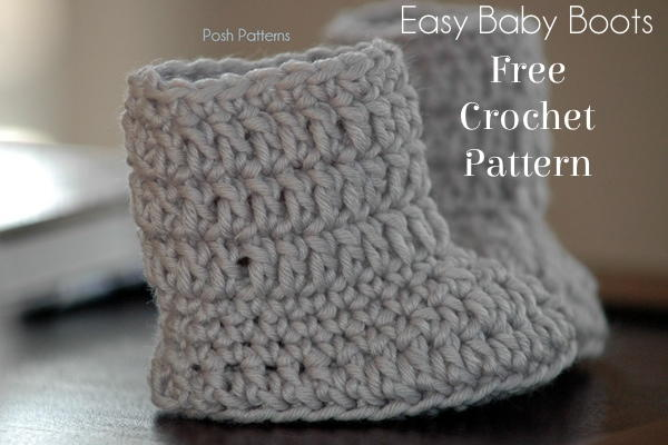 Free Crochet Pattern For Baby Construction Boots : Easy Baby Boots Crochet Pattern AllFreeCrochet.com