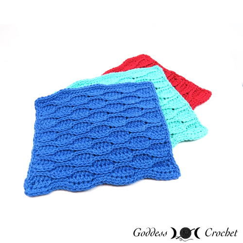 Wavy Lines Dishcloth
