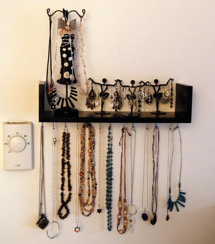 Wall Mounted DIY Jewelry Shelf Organizer DIYIdeaCentercom : Wall Mounted DIY Jewelry Shelf OrganizerExtraLarge700ID 1619553 from www.diyideacenter.com size 687 x 782 jpeg 78kB