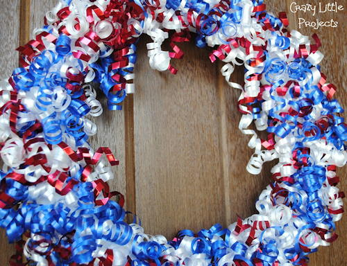 Patriotic DIY Ribbon Wreath