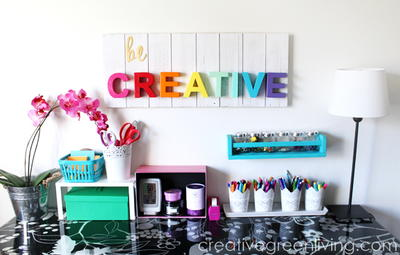 Be Creative Wood Wall Art