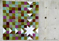 Simple Sawtooth Quilt Pattern
