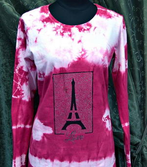 Paris Love Tie-Dye Shirt