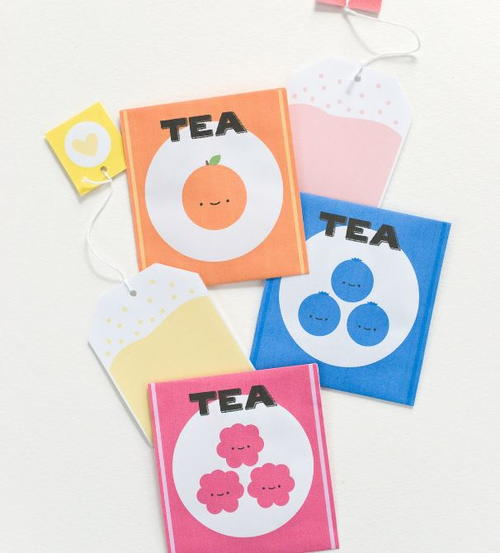 Fruity Tea Stationery Free Printables