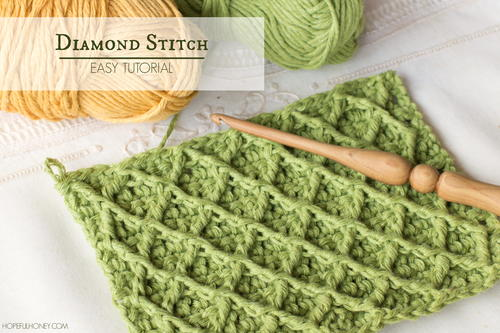 How To: Crochet The Diamond Stitch