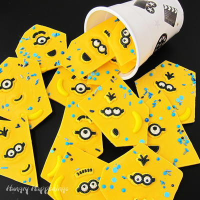 Minions White Chocolate Bark