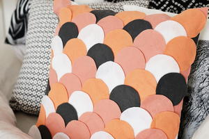 Pink Scalloped DIY Pillow