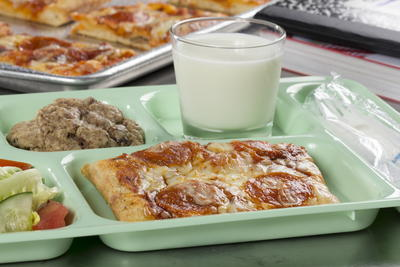 School Lunch Square Pizza