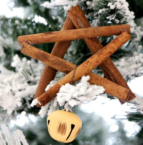 Cinnamon Stick Star DIY Ornament