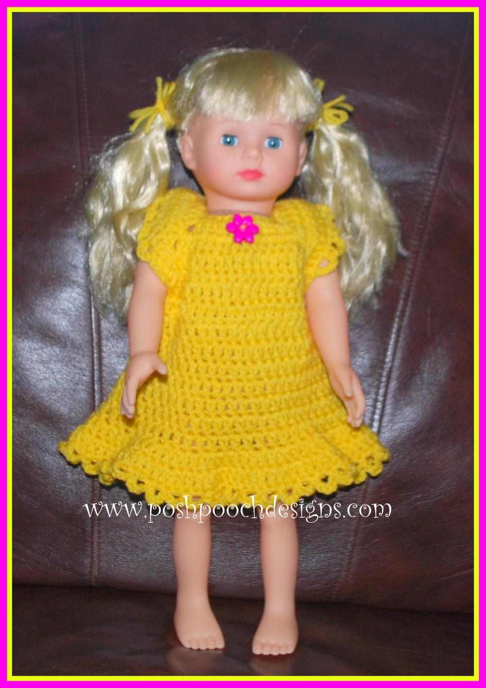 Simple Doll Dress For 18 Inch Dolls Allfreecrochet Com