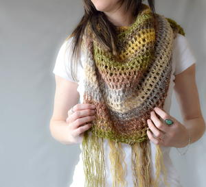 Boho Light Crochet Shawl