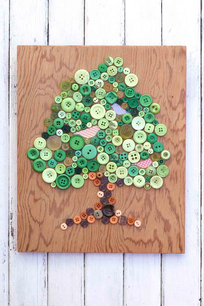 Button Tree Art Earth Day Craft