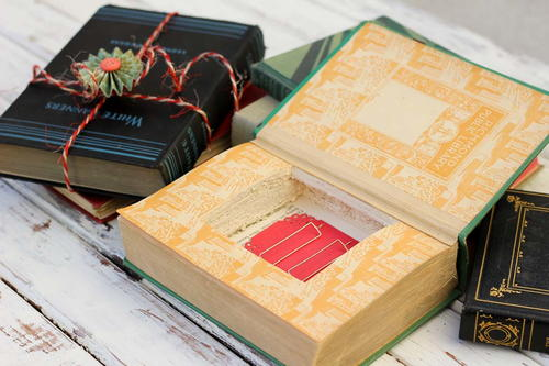 Make a Gift Box From a Vintage Book