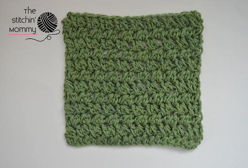 Spiked Box Stitch Dishcloth