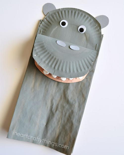 Happy Hippo Bag Puppet