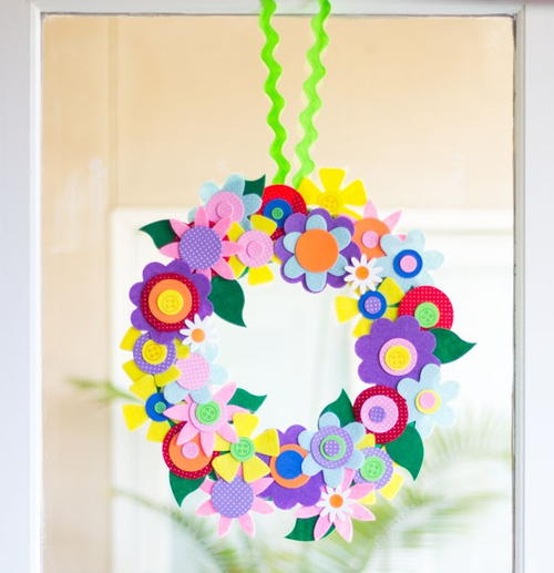 Felt Flower DIY Wreath