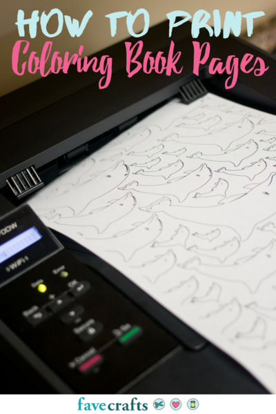 How to Print Coloring Book Pages