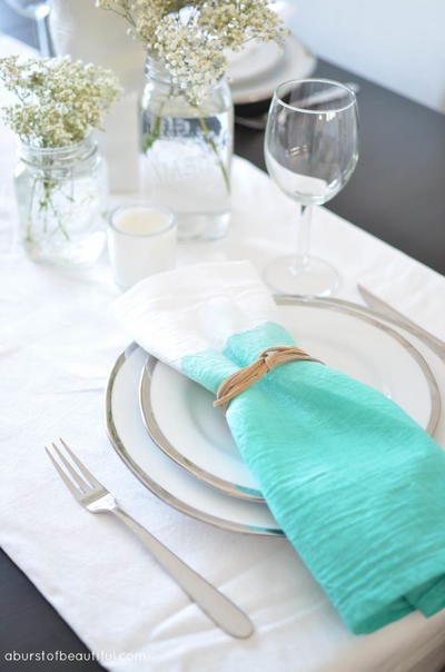 Watercolor DIY Table Napkins