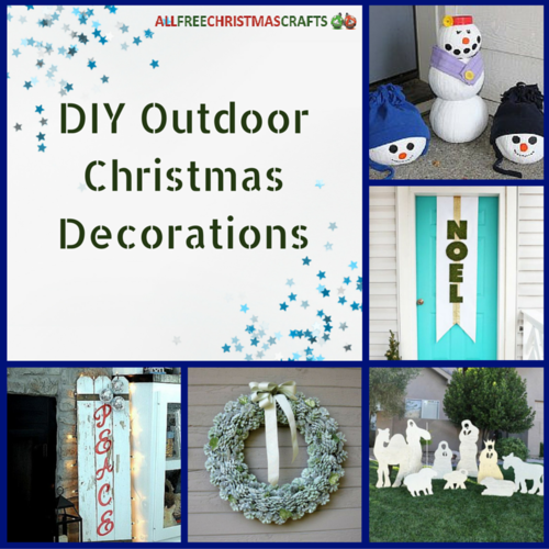 16 DIY Outdoor Christmas Decorations