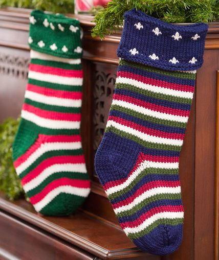 Fleur-de-Lis and Striped DIY Stockings