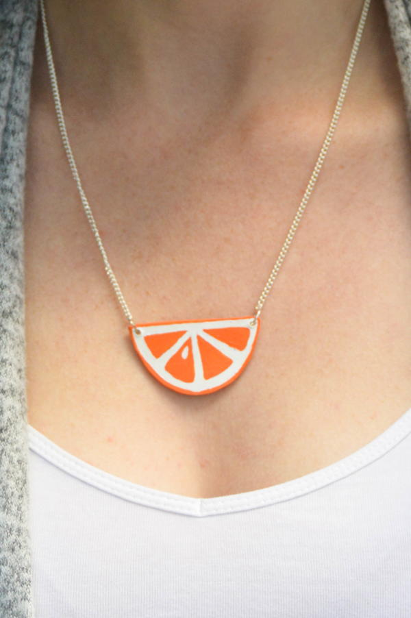 Summer Style Citrus Necklace