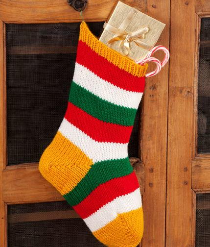 Vibrant Stripe DIY Christmas Stocking