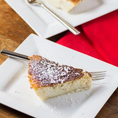 Impossible Coconut Rum Pie