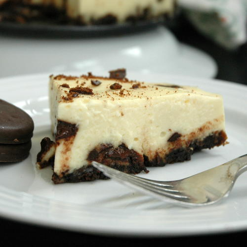 Chocolate Mint Chip Cheesecake