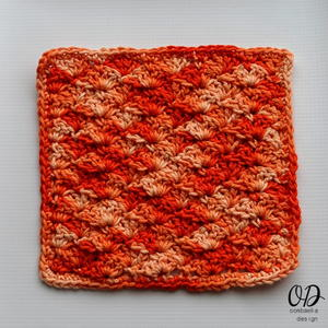 Orange Explosion Dishcloth