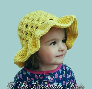 Kid's Lazy Daisy Floppy Sun Hat