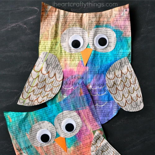Night Owl Newspaper Craft