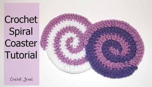 Spiral Coaster | AllFreeCrochet com
