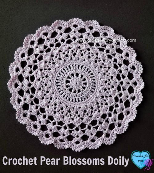 Crochet Pear Blossoms Doily