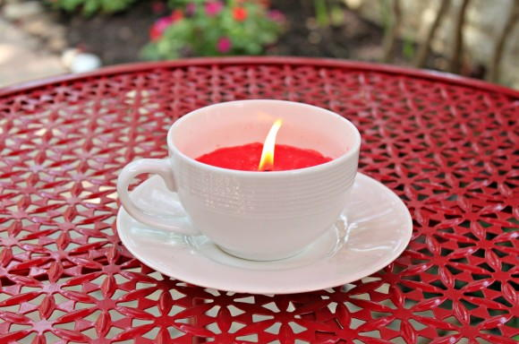 Cute DIY Teacup Candle