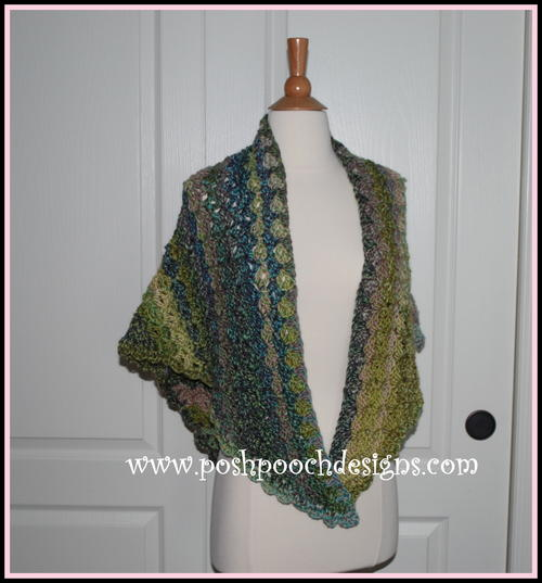 Watercolor Forest Shawl