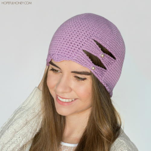 Butterfly Scallop Hat