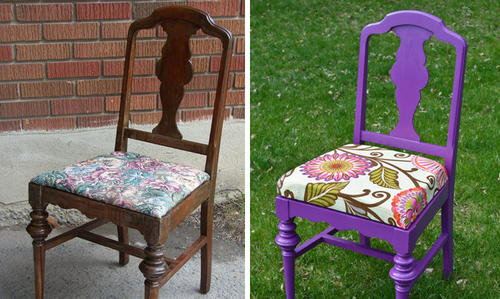How to Paint a Chair with Bold Colors