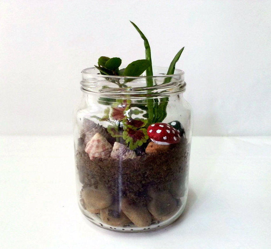 Mini Mason Jar Diy Garden Diyideacenter Com