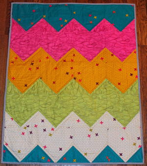 Easiest Chevron Quilt Pattern Ever