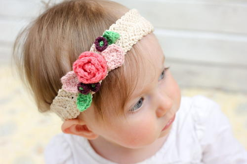 Spring Has Sprung Crochet Flower Headband