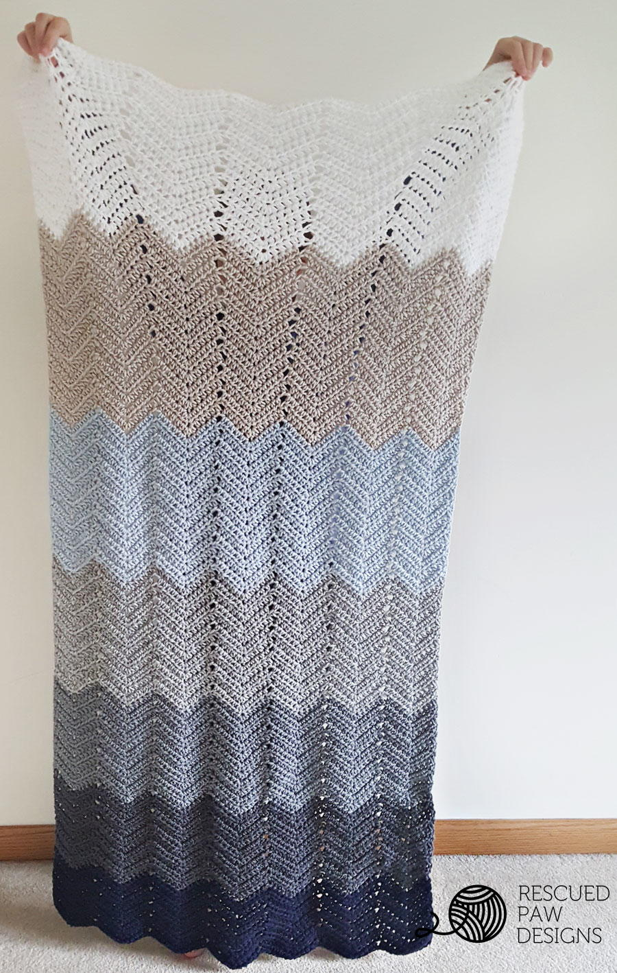 Ombre Ripple Blanket Allfreecrochet Com